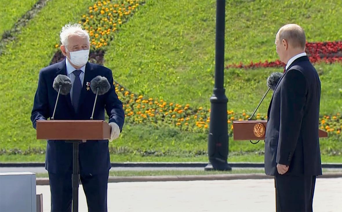 Леонид Рошаль и Владимир Путин