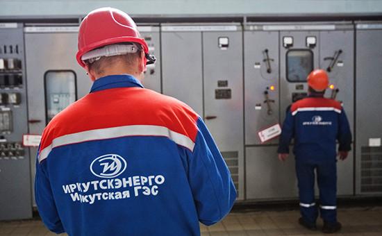 Рабочие вспецодежде «Иркутскэнерго»