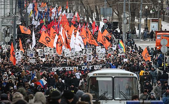 Во время шествия оппозиции 2 февраля 2014 года
