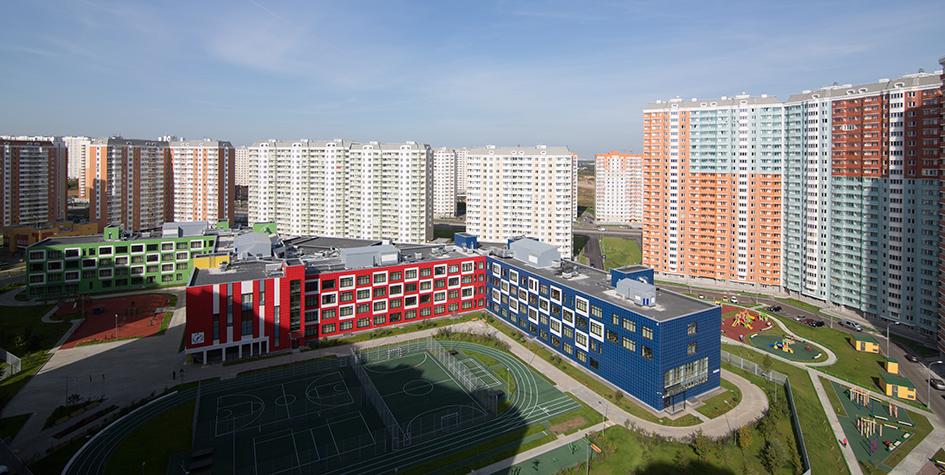 Вид на жилой комплекс в Некрасовке