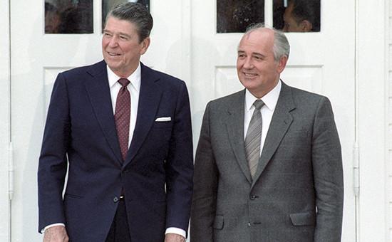 Рональд Рейган и Михаил Горбачев. 1986 год, Исландия