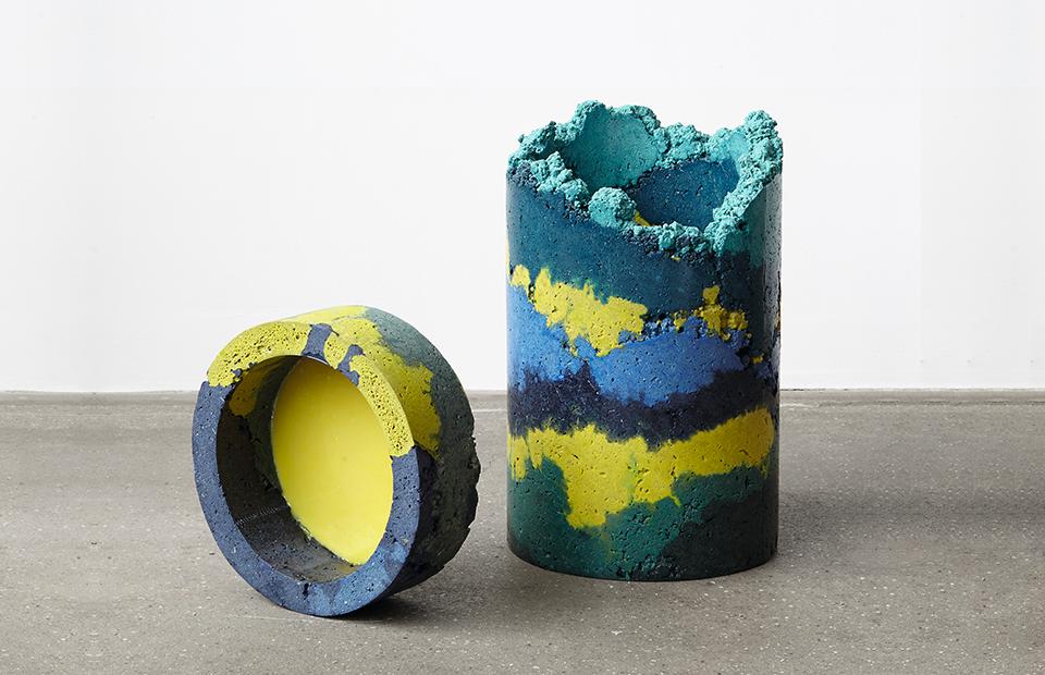 Вазы Zetteler, дизайн Шарлотты Киджер, выставка Plastic, Beyond the Chipper на London Design Fair, сентябрь 2018