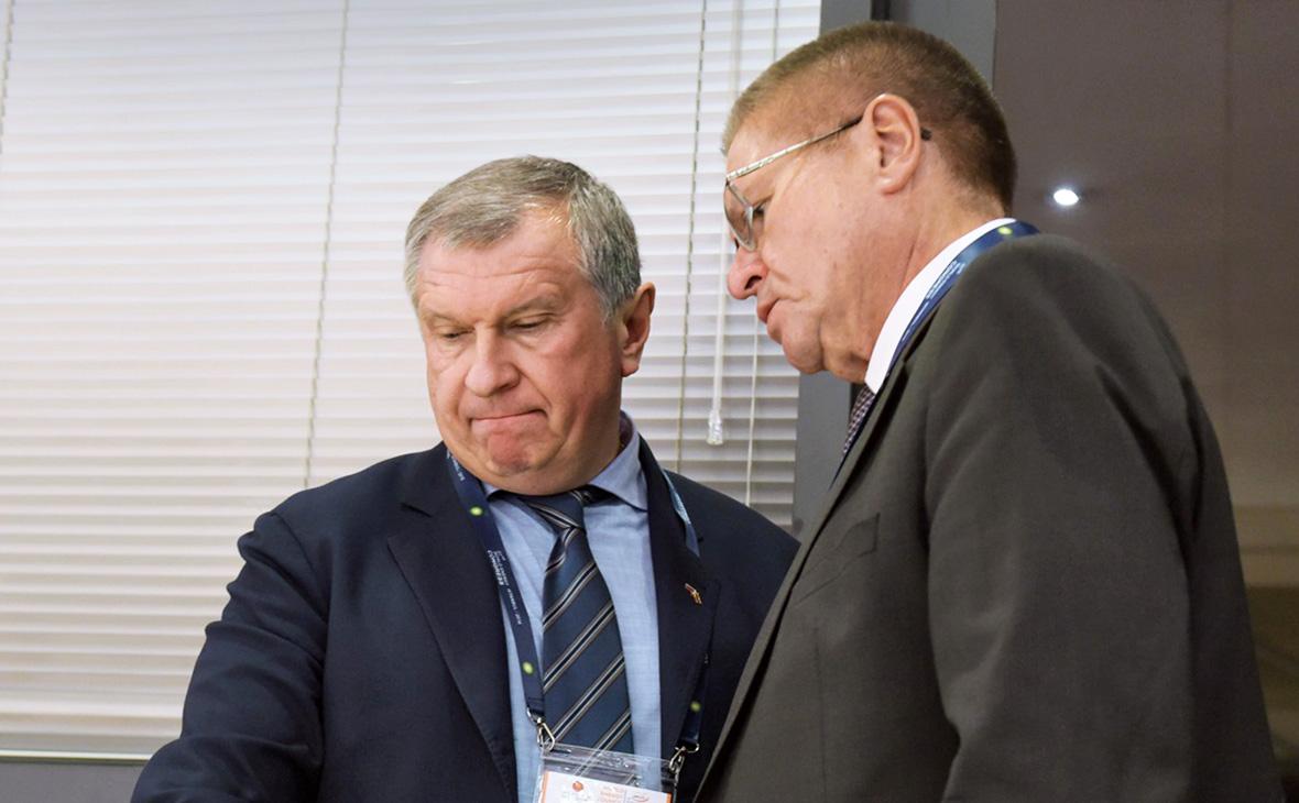 Игорь Сечин и Алексей Улюкаев (справа)