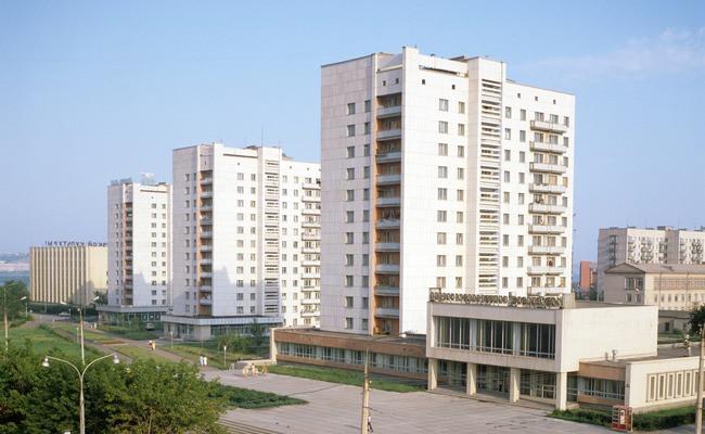 Микрорайон типовой застройки в Магнитогорске