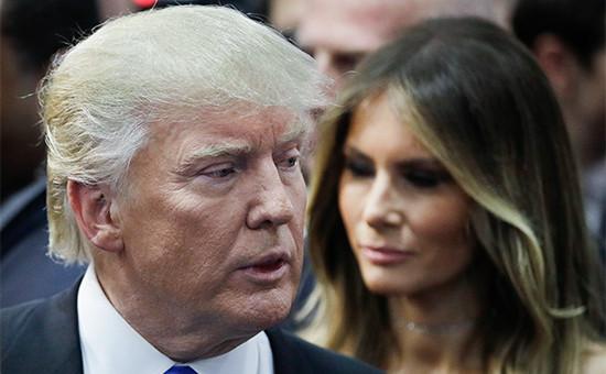 Кандидат в президенты США от Республиканской партии Дональд Трамп и его супруга Мелания