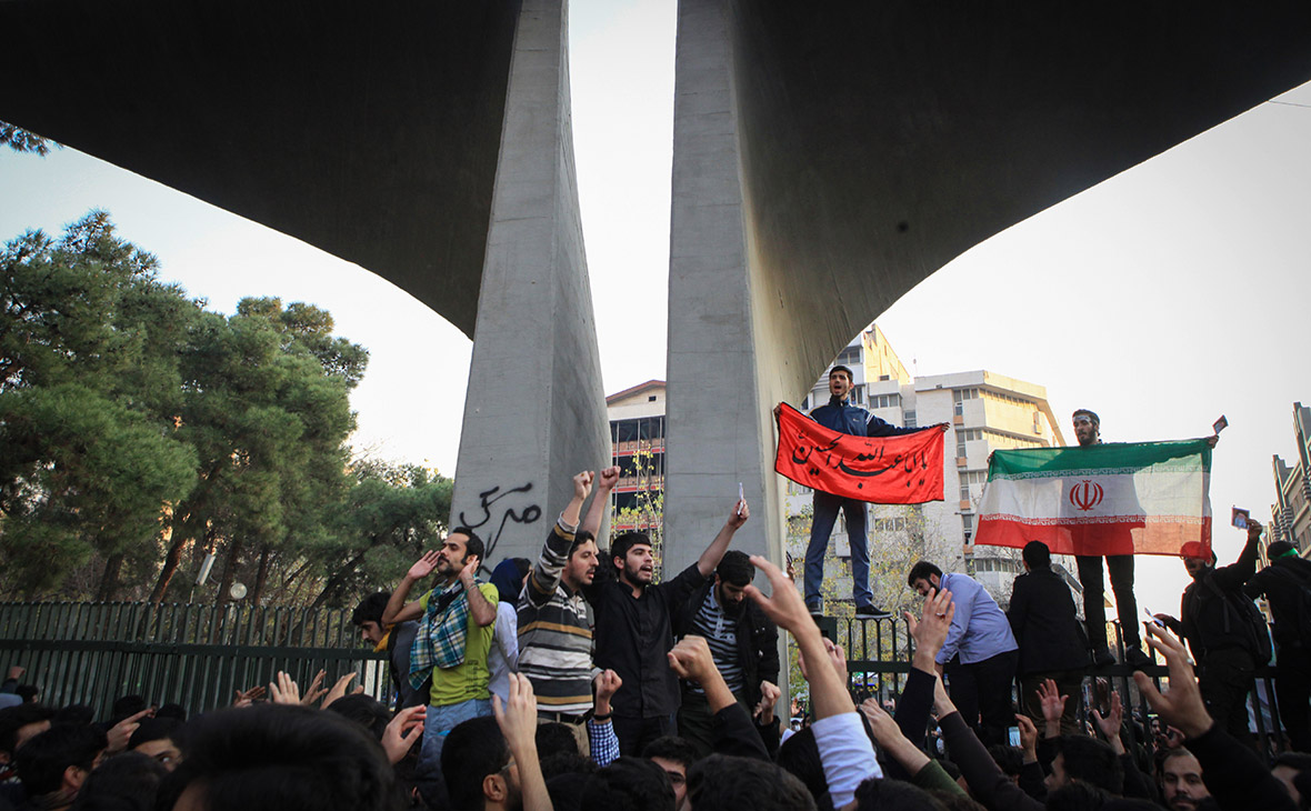 Акции протеста в Тегеране