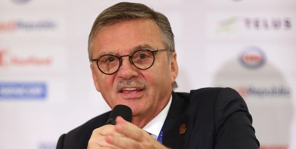 Президент IIHF Рене Фазель