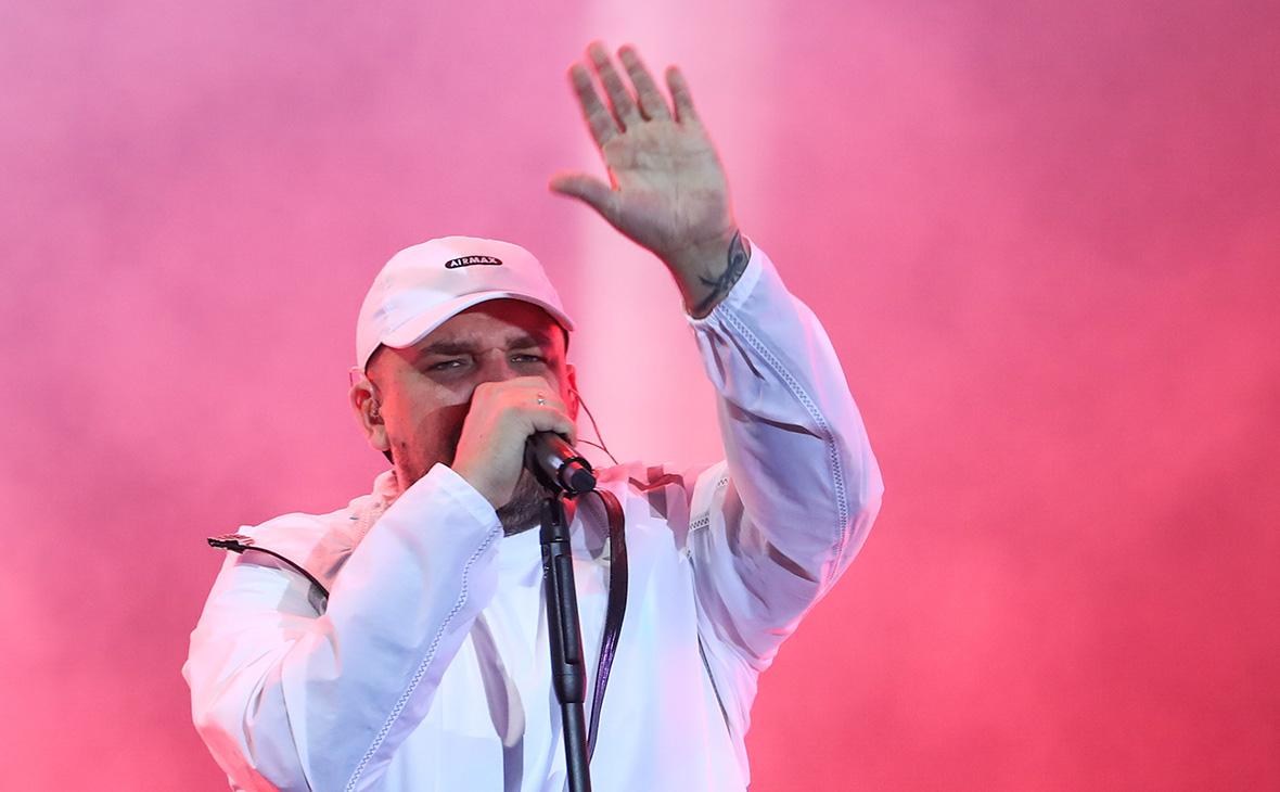 Василий Вакуленко (Баста) во время концерта