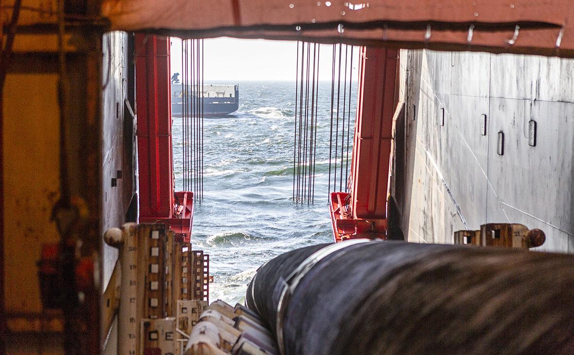 Процесс укладки газопровода «Северный поток ‑ 2»
