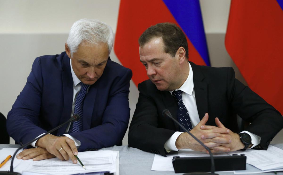 Андрей Белоусов и премьер Дмитрий Медведев