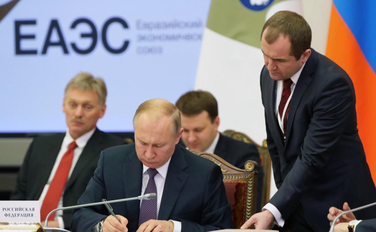 Владимир Путин на заседании Высшего евразийского экономического совета 20 декабря