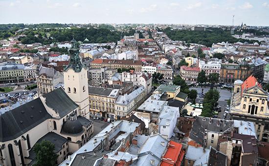 Вид на город Львов