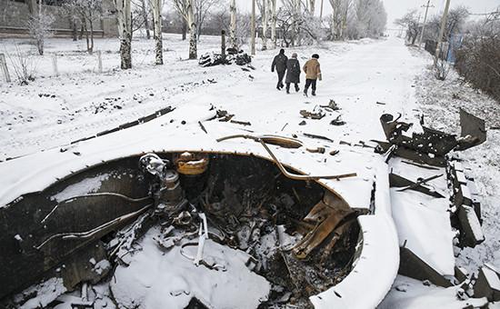 Дебальцево, 16 февраля 2015 года