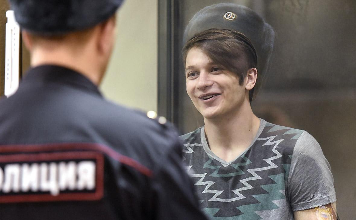 Вадим Осипов во время заседания Ленинградского окружного военного суда