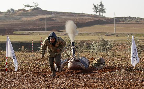 Боевик недалекоотсирийского города Аль-Баб. 7 января 2017 года