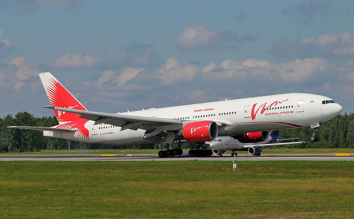 Самолет Boeing 777-200 авиакомпании«ВИМ-Авиа»