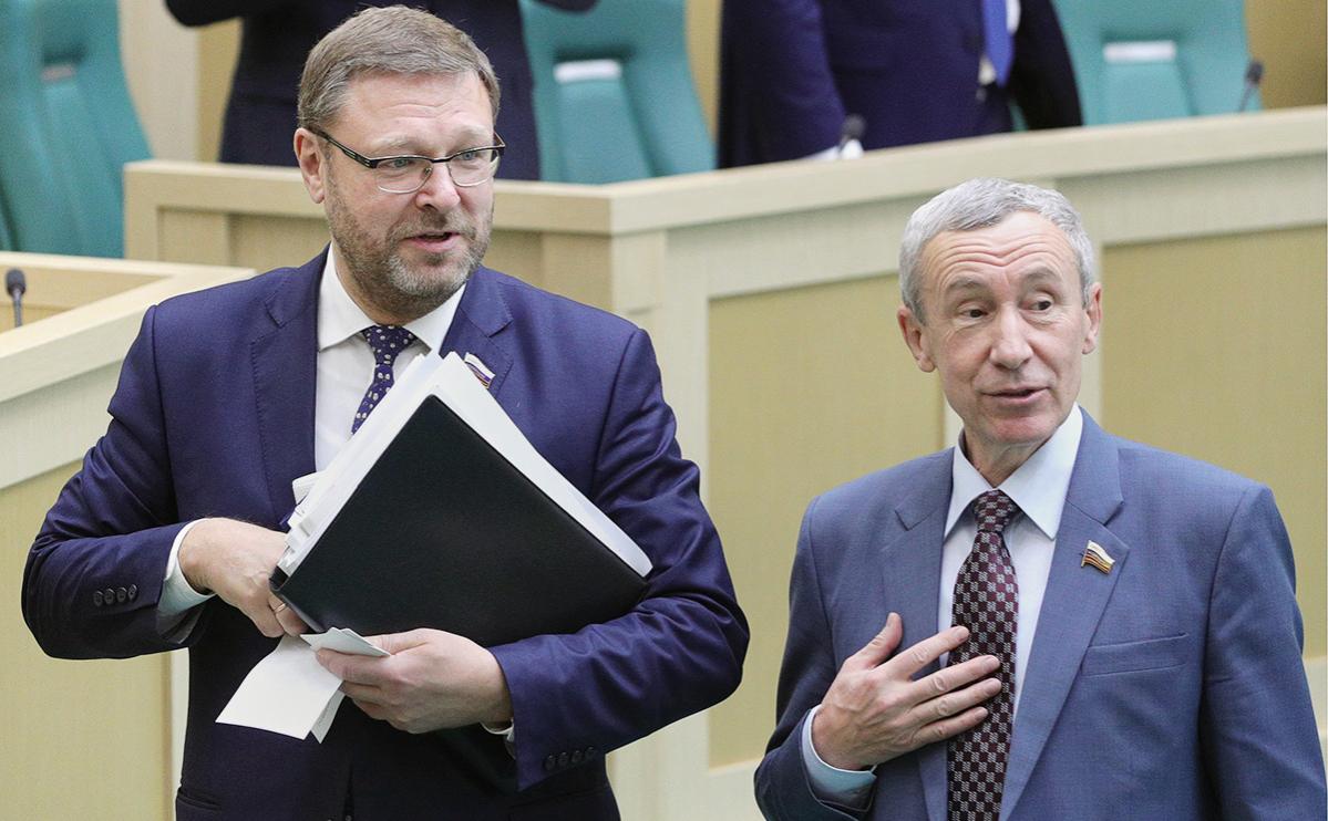 Константин Косачев иАндрей Климов