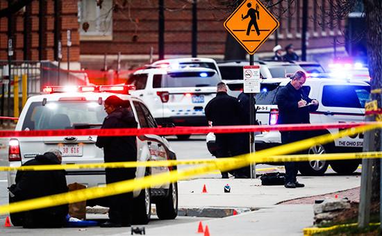 Полиция на территорииуниверситета американского штата Огайо. 28 ноября 2016 года