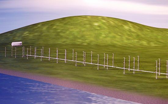 Изображениезагоризонтного модифицированного радара «Подсолнух»