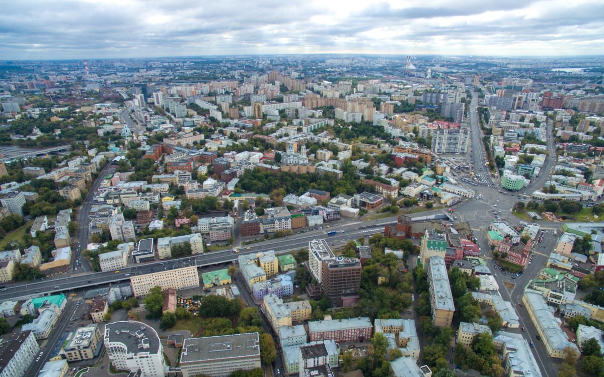 Вид на Таганский район Москвы