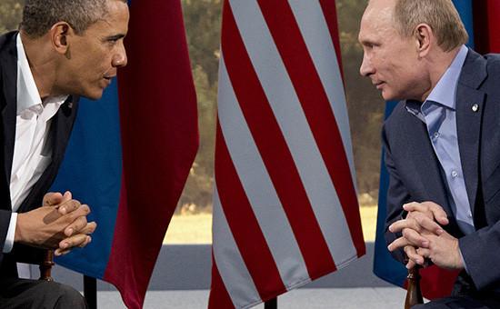 Президент США Барак Обама и президент России Владимир Путин. Архивное фото