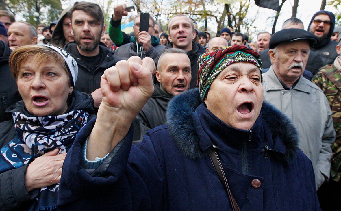 Акция Саакашвили в Киеве. 22 октября 2017 года