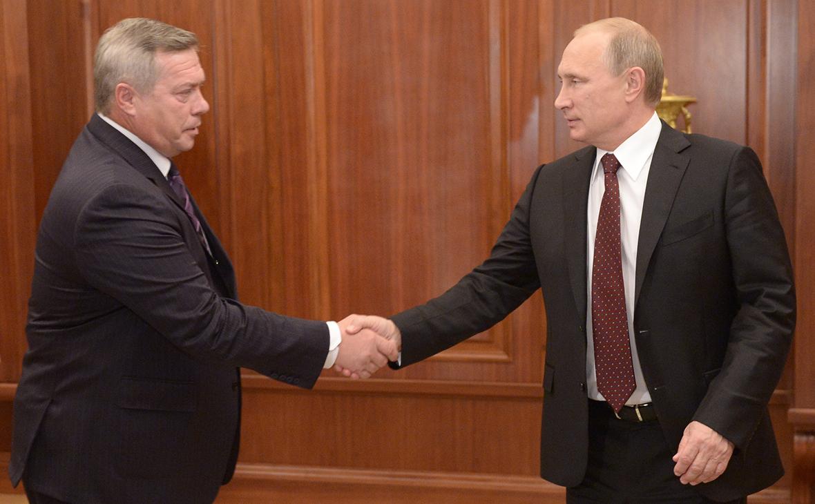 Василий Голубев иВладимир Путин