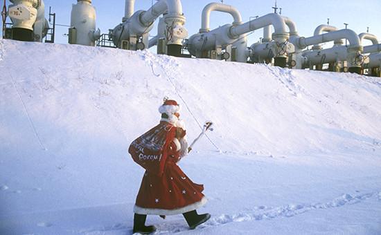 Компрессорная станция газопровода Уренгой-Помары-Ужгород, построенного в 1983 году, архив