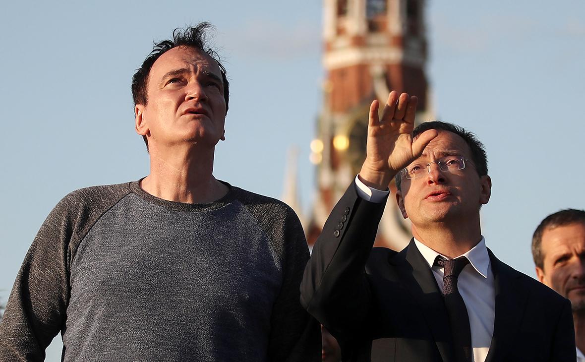 Квентин Тарантино и Владимир Мединский (слева направо)