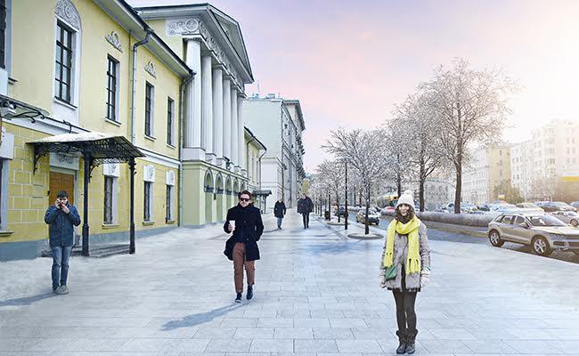 Визуализация проекта реконструкции Зубовского бульвара