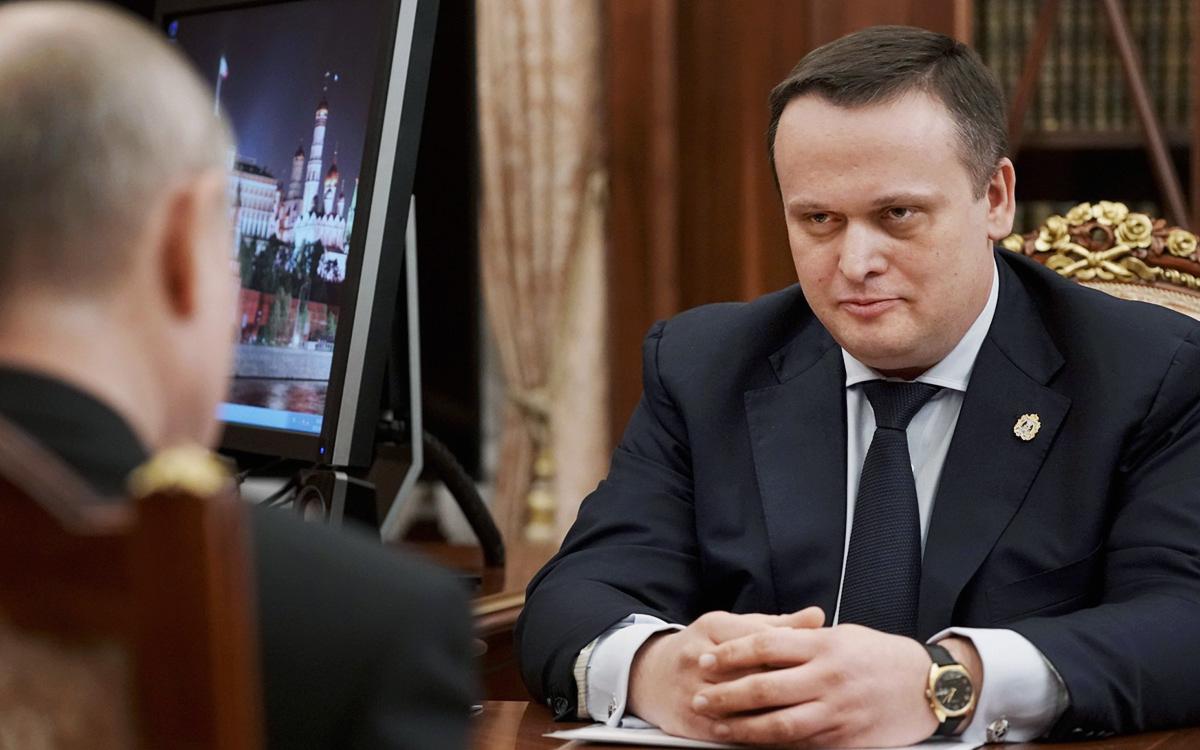 Рабочая встреча Владимира Путина с губернатором Новгородской области Андреем Никитиным