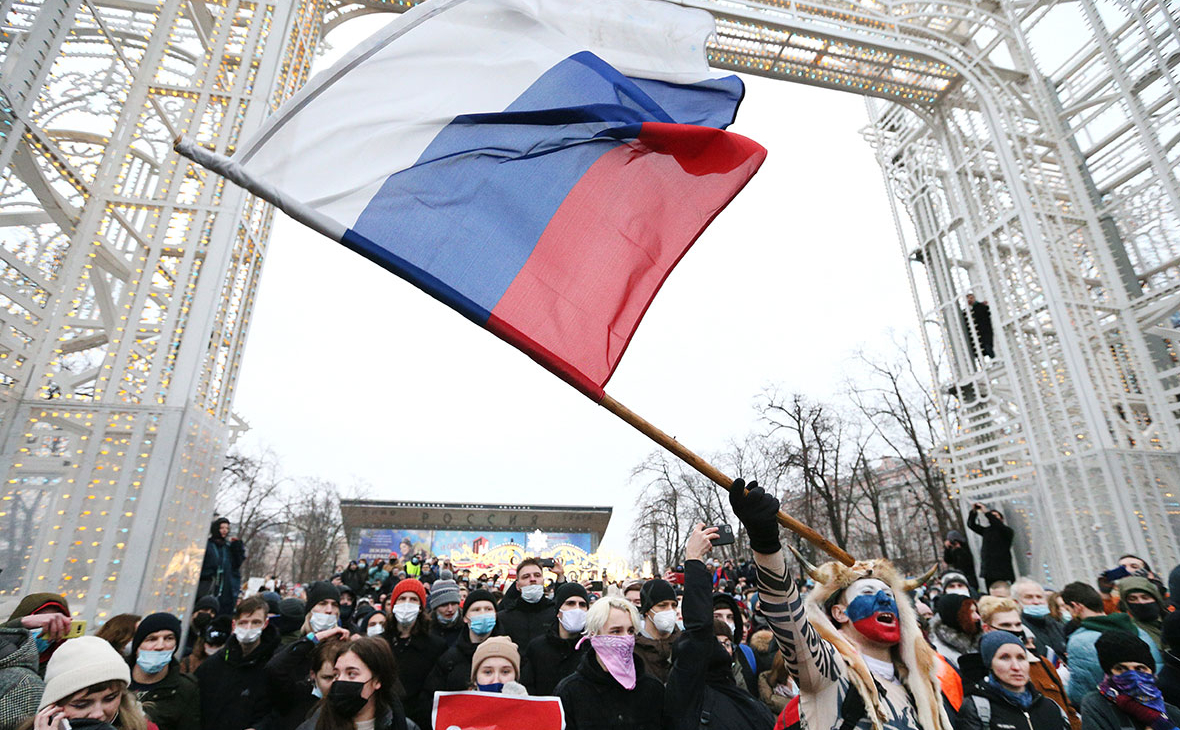 Несанкционированная акция в поддержку Алексея Навального