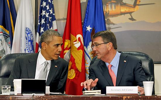 Президент США Барак Обама иглава Пентагона Эштон Картер