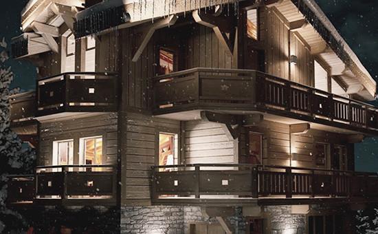 Шале класса люкс под названием La Datcha на горнолыжном курорте Куршевель