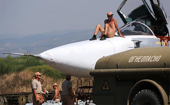 Российские военнослужащие на авиабазе «Хмеймим»