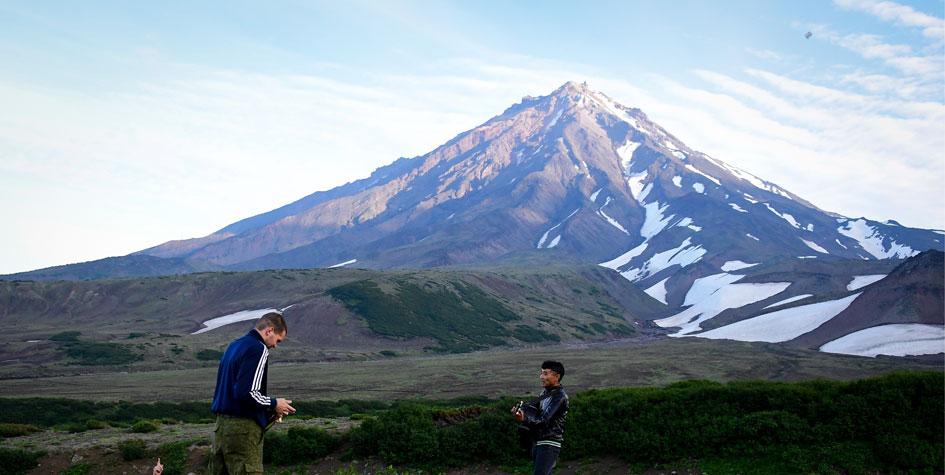 Сопка вулкана на Камчатке