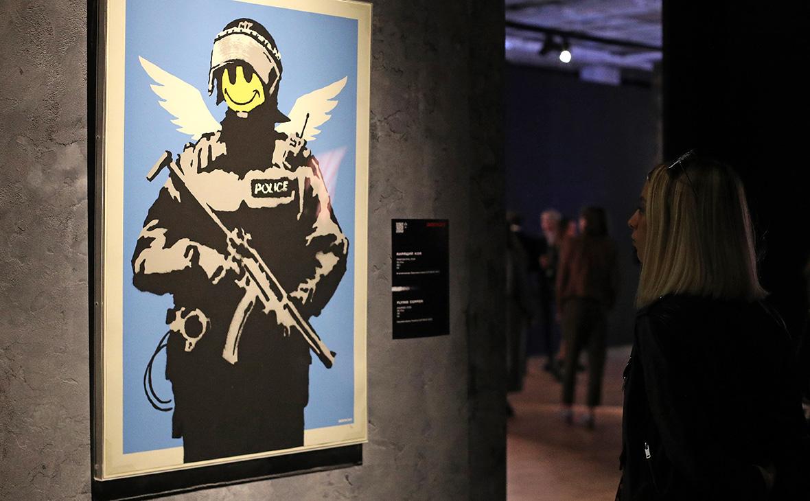 Открытие выставки Banksy в ЦДХ.1 июня 2018 года