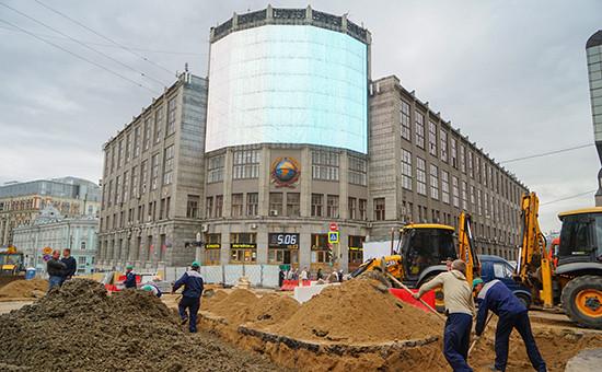 Реконструкция Тверской улицы, июнь 2016 года