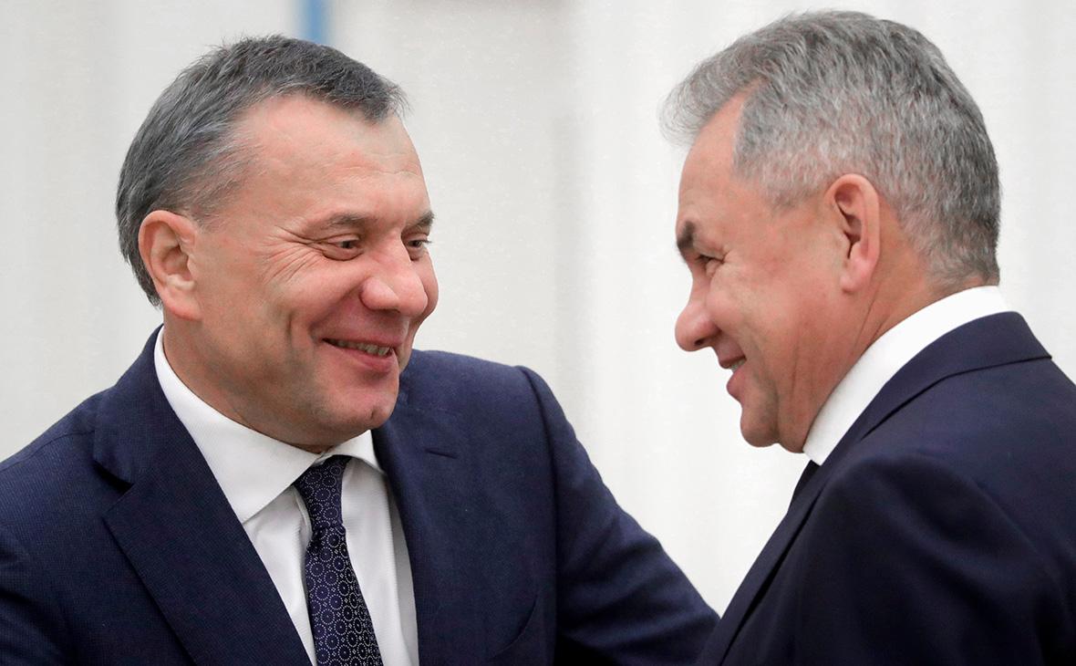 Юрий Борисов и Сергей Шойгу (справа)