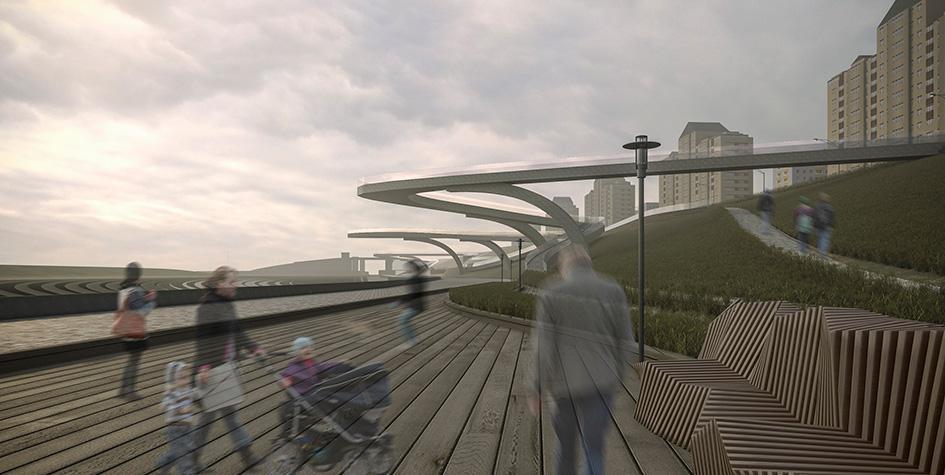 Проект «парящего» моста в районе Хорошего-Мневники