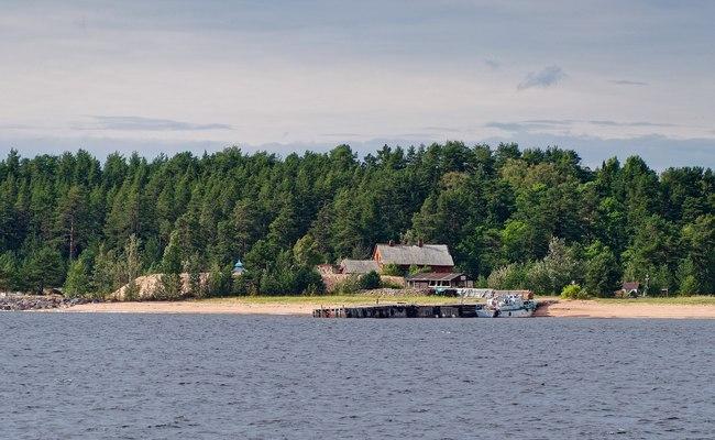 Остров наЛадожском озере вРоссии