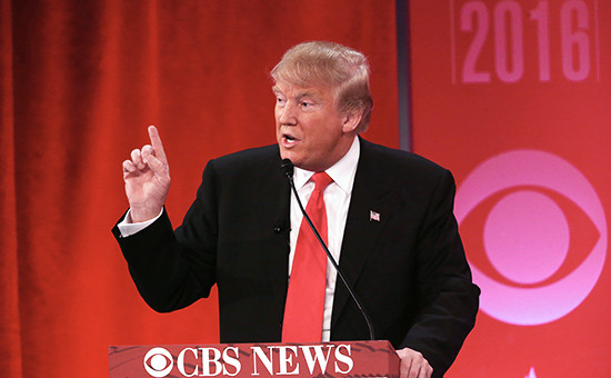 Дональд Трамп в ходе дебатов Республиканской партии
