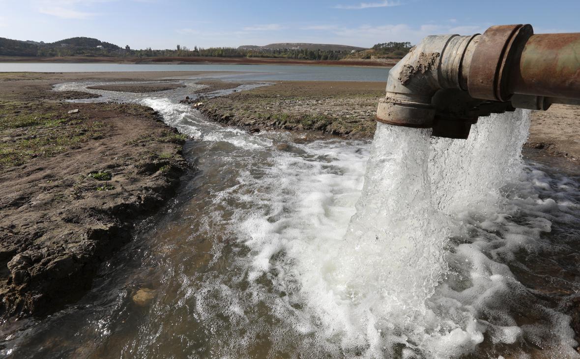 Переброс воды из Тайганского в Симферопольское водохранилище