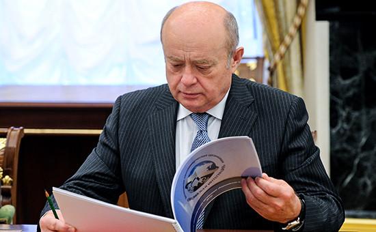 Глава Службы внешней разведки и бывший премьер-министр России Михаил Фрадков