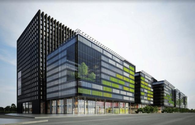 Визуализация делового центра в поселении Сосенское Новой Москвы