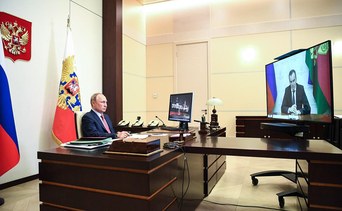 Рабочая встреча Владимира Путина с Вениамином Кондратьевым