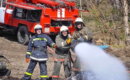 Тушение пожара, май 2011 года