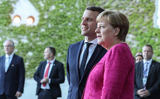 Ангела Меркель и ЭмманюэльМакрон
