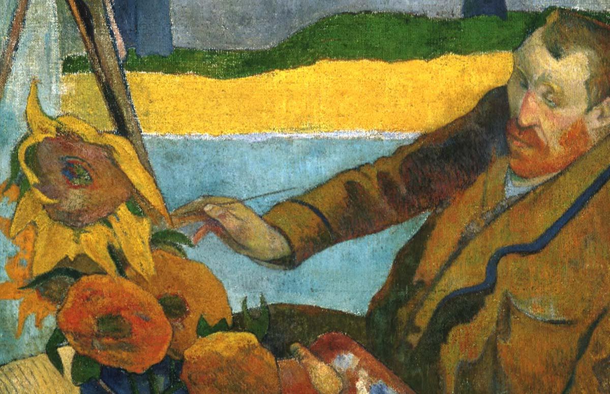 Поль Гоген, «Портрет Винсента ван Гога, рисующего подсолнухи», 1888