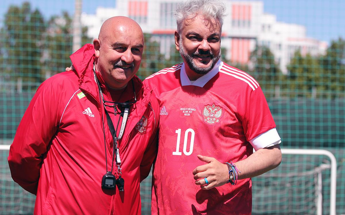 Фото: Станислав Черчесов и Филипп Киркоров (Константин Рыбин/rfs.ru)